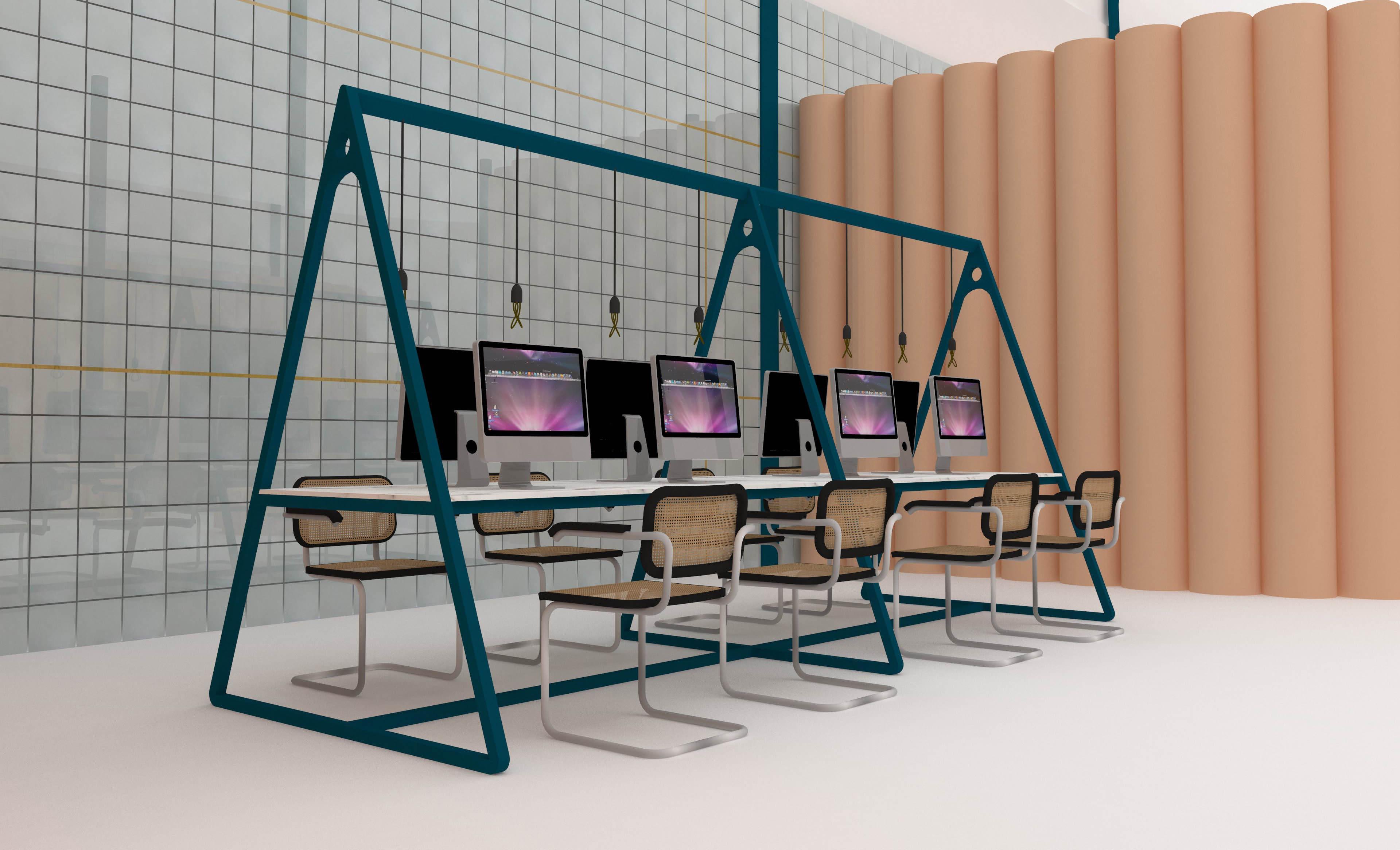 1 PORCELANOSA espacio trabajo diseño INTERIORISMO INTERIORISTA