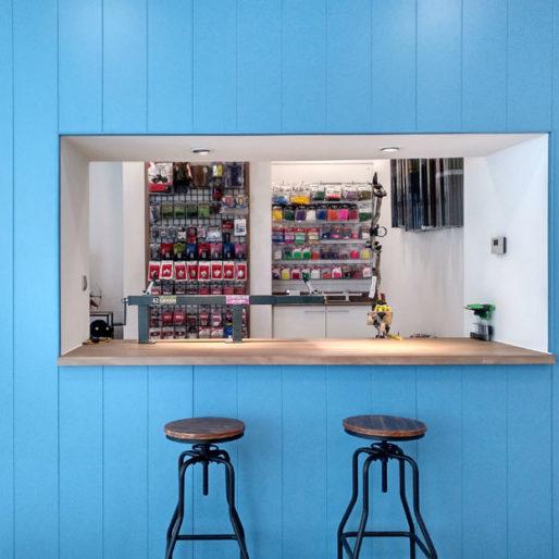 Arcoguanche diseño interiores alcobendas local comercial tienda caza arco interiorismo retail toledo interiorista 3